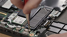 "Step-by-step process on how to install a M.2"" SSD in your notebook."