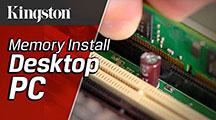 依照下列簡單步驟,就能輕鬆在桌上型系統中安裝記憶體模組。