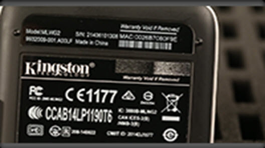 "For verification, a product label design may use Phantom technology. When the label is tilted away from viewer, the effect area will reveal the letter ""K"" or Kingston Head."